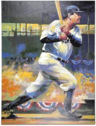 Babe Ruth New York Yankees Unsigned 30'' x 40'' Giclee - by Malcolm Farley - Mounted Memories