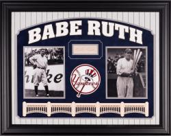 Babe Ruth Framed Auto Yankees Signature Clip