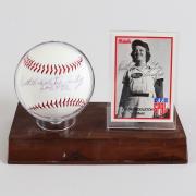 Ruth Middleton Signed Baseball & Card Battle Creek Belles – COA JSA