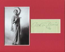 Ruth St. Denis Ballet Modern Dance Choreographer Signed Autograph Photo Display
