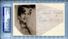 RUTH TAYLOR Vintage Signed Cut w/ Photo Gentlemen Prefer Blondes PSA/DNA