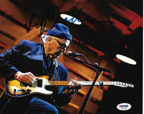 Ry Cooder Rolling Stones Morrison Guitar Signed Auto 8x10 Photo PSA/DNA COA (D)