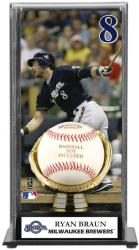 Ryan Braun Milwaukee Brewers Baseball Display Case with Gold Glove & Plate - Mounted Memories