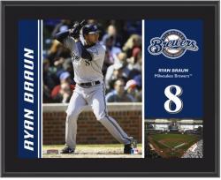 """Ryan Braun Milwaukee Brewers Sublimated 10"""" x 13"""" Plaque"""