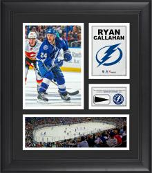 """Ryan Callahan Tampa Bay Lightning Framed 15"""" x 17"""" Collage with Piece of Game-Used Puck"""