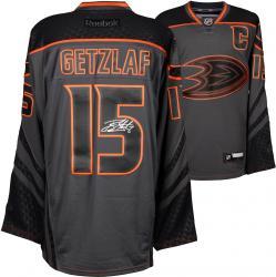 Ryan Getzlaf Anaheim Ducks Autographed Charcoal Reebok Cross Check Premier Jersey