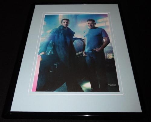 Ryan Gosling Harrison Ford Blade Runner 2049 Framed 11x14 Photo Display