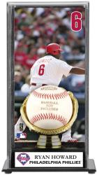 Ryan Howard Philadelphia Phillies Baseball Display Case with Gold Glove & Plate - Mounted Memories