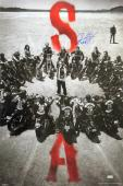 """Ryan Hurst """"Opie Winston"""" Signed Sons of Anarchy 36x24 Poster with """"Opie"""" Inscription - Circle of Bikes"""