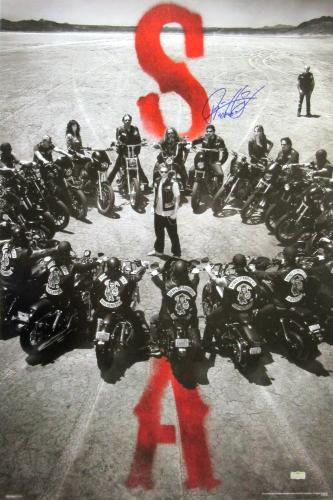 "Ryan Hurst ""Opie Winston"" Signed Sons of Anarchy 36x24 Poster with ""Opie"" Inscription - Circle of Bikes"
