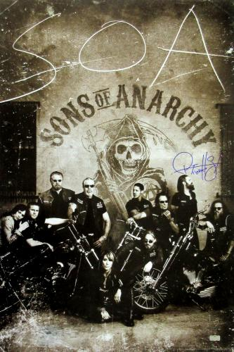 "Ryan Hurst ""Opie Winston"" Signed Sons of Anarchy 36x24 Poster with ""Opie"" Inscription - Crew Under Logo"