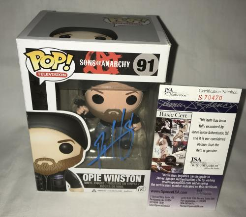Ryan Hurst Signed   Autographed Opie Winston Sons of Anarchy Funko Pop Toy Doll Figurine - JSA Certified