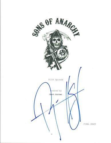 Ryan Hurst Signed Autographed SONS OF ANARCHY  Pilot Episode Script COA VD