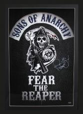 """Ryan Hurst Signed Sons Of Anarchy Fear the Reaper Framed Poster With """"Opie"""" Inscription"""