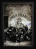 "Ryan Hurst Signed Sons Of Anarchy Framed Poster With ""Opie"" Inscription - 10 Characters"