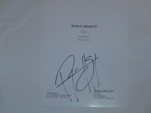 "Ryan Hurst Signed ""sons Of Anarchy"" Full 64 Page Pilot Script Exact Proof Rare"