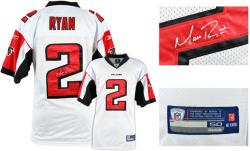 Matt Ryan Atlanta Falcons Autographed White Reebok On Field Jersey - Mounted Memories