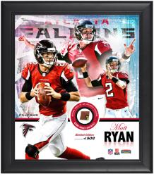 Atlanta Falcons Matt Ryan Framed Collage with Game Used Football Limited Edition of 502 - Mounted Memories