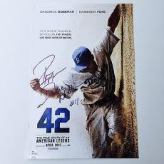 Autographed Pee Wee Reese Picture - Ryan Merriman 42 Movie 12x16 Official Poster JSA COA