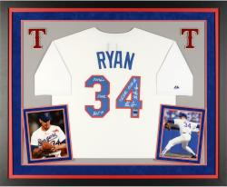 "RYAN, N FMD AUTO ""MUL"" (DLX) ( TB/WHT/MAJ/ATH) (MLB) LE25 JS - Mounted Memories"