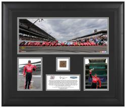 Ryan Newman 2013 Brickyard 400 Race Winner Framed Deluxe Collage with IMS Brick - Mounted Memories