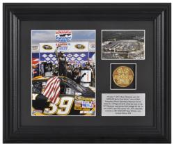 Ryan Newman '11 Lenox Industrial Tools Winner Framed 6'' x 8'' Photo with Plate & Gold Coin - Limited Edition of 339 - Mounted Memories