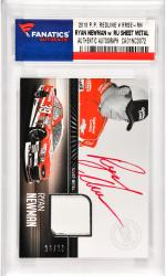 Ryan Newman Nascar Autographed 2013 Press Pass Fanfare #RRSE-RN Card with a Piece of Race Used Sheet Metal Limited to 39