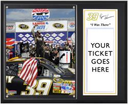 "Ryan Newman 2011 New Hampshire Lenox Industrial Tools 301 Sublimated 12x15 ""I WAS THERE"" Ticket Plaque - Mounted Memories"