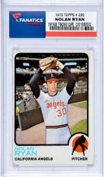RYAN, NOLAN (1973 TOPPS # 220) CARD - Mounted Memories