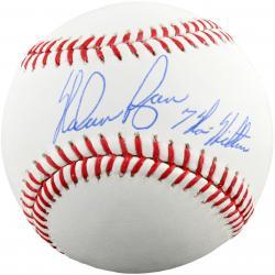 Nolan Ryan Autographed Baseball with 7 No-Hitters Inscription