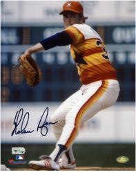 "Nolan Ryan Houston Astros Autographed 8"" x 10"" Pitching Photograph"