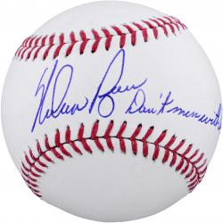 Nolan Ryan Texas Rangers Autographed Baseball - Don't Mess With Texas