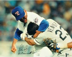 "Nolan Ryan Texas Rangers Autographed 16"" x 20"" Photograph with Don't Mess With Texas Inscription"