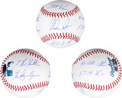 Nolan Ryan Texas Rangers Autographed Baseball with Multiple Inscriptions-#2-33 Limited Edition of 34