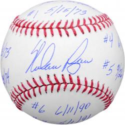 Nolan Ryan Texas Rangers Baseball with Multiple Inscriptions-#2-33 of a Limited Edition of 34