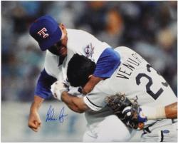 "Nolan Ryan Texas Rangers Autographed 16"" x 20"" Robin Ventura Fight Photograph"