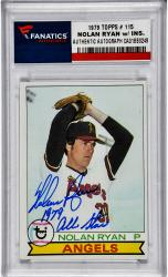 Nolan Ryan Los Angeles Angels of Anaheim Autographed 1979 Topps #115 Card with 1979 All Star Inscription