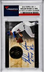 Nolan Ryan Texas Rangers Autographed 2012 Topps #GS-1 Card with 5,714 K's Inscription - Mounted Memories