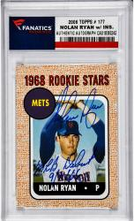Nolan Ryan New York Mets Autographed 2006 Topps #177 Card with MLB Debut 9/11/66 Inscription - Mounted Memories