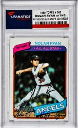Nolan Ryan Los Angeles Angels of Anaheim Autographed 1980 Topps #580 Card with Ryan Express Inscription