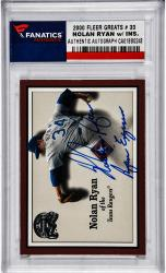 Nolan Ryan Texas Rangers Autographed 2000 Fleer Greats #33 Card with Ryan Express Inscription - Mounted Memories