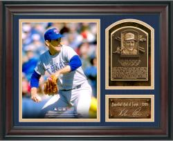 "Nolan Ryan Baseball Hall of Fame Framed 15"" x 17"" Collage with Facsimile Signature  - Mounted Memories"