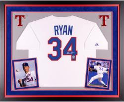 Nolan Ryan Autographed Rangers Authentic Jersey - Deluxe Framed
