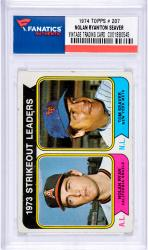 Nolan Ryan Los Angeles Angels of Anaheim & Tom Seaver New York Mets 1974 Topps #207 Card
