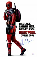 "Ryan Reynolds Autographed 12"" x 18"" Deadpool Movie Poster - PSA/DNA"
