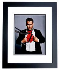 Ryan Reynolds Signed - Autographed DEADPOOL 11x14 inch Photo BLACK CUSTOM FRAME - Guaranteed to pass PSA or JSA