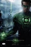 Ryan Reynolds Signed Green Lantern 10x15 Movie Poster Jsa Coa K42209