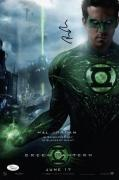 Ryan Reynolds Signed Green Lantern 10x15 Movie Poster Jsa Coa K42210