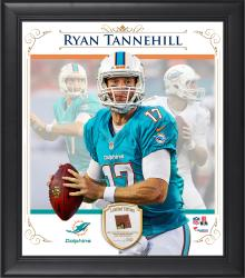 "Ryan Tannehill Miami Dolphins Framed 15"" x 17"" Composite Collage with Piece of Game-Used Football"