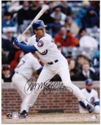 "Ryne Sandberg Chicago Cubs Autographed 16"" x 20"" Batting Photograph - Mounted Memories"